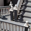 Stairs and white balustrade — Stock Photo