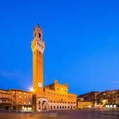 Palazzo Publico and Torre del Mangia — Stock Photo