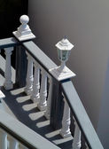 Stairs and white balustrade — Stock Photo