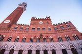 Palazzo Pubblico (town hall) in Siena — Stock Photo
