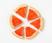 Slice of red grapefruit — Stock Photo