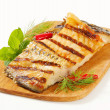 Grilled carp fillets — Stock Photo