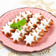Cinnamon star cookies — Stock Photo