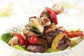 Grilled shish kebabs — Stock Photo