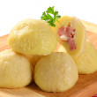 Meat stuffed potato dumplings — Stock Photo #34547255