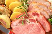 Smoked and roasted pork — Stok fotoğraf
