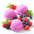 Stock Photo: Triple berry fruit ice cream