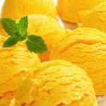 Yellow ice cream cones — Stock Photo #35348681