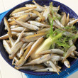 Bowl of fresh sprats — Stock Photo
