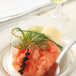 Salmon starter — Stock Photo