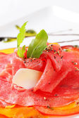 Carpaccio dish — Stock Photo