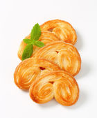 Palmiers - puff pastry cookies — Stock Photo