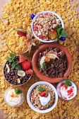 Assorted breakfast cereals — Stock Photo