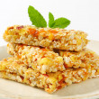 Apricot and apple cereal bars — Stock Photo