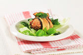 Courgette wrapped meatball — Stock Photo