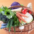 Fresh vegetables in a basket — Stock Photo #37575615