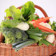 Fresh vegetables in a basket — Stock Photo #37575631