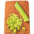 Sliced fresh leek — Stock Photo