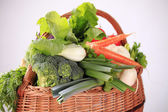 Fresh vegetables in a basket — Stock Photo