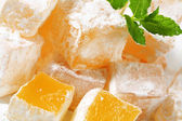 Mastic-flavored jelly cubes (Greek Turkish delight) — Stock Photo