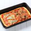 Rectangular pizza — Stock Photo #38305581