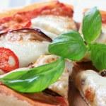 Постер, плакат: Eggplant and cheese pizza