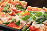 Pizza Alla Bismarck — Stock Photo