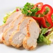 Chicken breast with green salad — Stock Photo #38608207