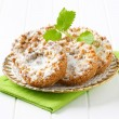 Stock Photo: Small apple crumble cakes