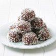 Chocolate coconut balls — Stock Photo #39044517
