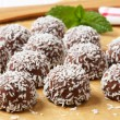 Chocolate coconut snowball cookies — Stock Photo #39044733