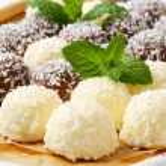 Chocolate coconut snowballs — Stock Photo #39044773