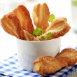 Puff pastry twists — Stock Photo
