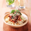 Spaghetti and ragu alla Bolognese — Stock Photo