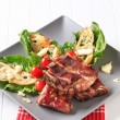 Smoked pork ribs — Stock Photo #40960849