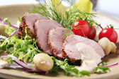 Roast pork tenderloin — Stock Photo