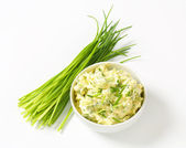 Chive butter — Stock Photo