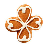 Gingerbread four leaf clover — 图库照片