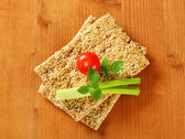 Sesame seed crackers — Stock Photo