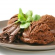 Double chocolate ice cream — Stock Photo