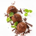 Chocolate ice cream — Stock Photo #43765103