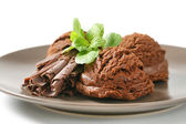 Helado de chocolate doble — Foto de Stock