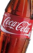 Coca Cola bottle - detail — Stock Photo