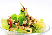 Green salad with cheese — Stock Photo
