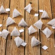 Pyramid tea bags — Stock Photo #48417565