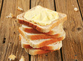 Sandwich bread with butter — Stock Photo