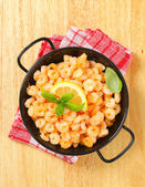 Pan fried shrimps  — Stock Photo