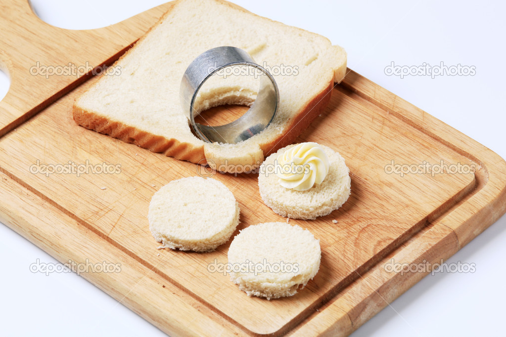 Bread bases for canapes stock photo ajafoto 6906829 for Types of canape bases