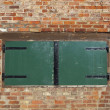 Stock Photo: Wooden hatch
