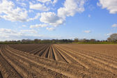Freshly plowed soil — Stock Photo